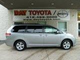 2012 Silver Sky Metallic Toyota Sienna LE #54683689