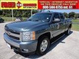 2007 Blue Granite Metallic Chevrolet Silverado 1500 LT Z71 Extended Cab 4x4 #54684201