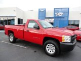 2012 Victory Red Chevrolet Silverado 1500 Work Truck Regular Cab 4x4 #54738480