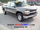 2002 Medium Charcoal Gray Metallic Chevrolet Silverado 1500 LS Extended Cab 4x4 #54738743