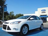 2012 Oxford White Ford Focus SEL 5-Door #54738402