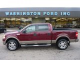 2006 Dark Toreador Red Metallic Ford F150 Lariat SuperCrew 4x4 #54738648