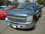 2012 Blue Granite Metallic Chevrolet Silverado 1500 LS Extended Cab 4x4 #54738306