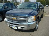 2012 Imperial Blue Metallic Chevrolet Silverado 1500 LS Extended Cab 4x4 #54738305