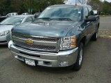 2012 Blue Granite Metallic Chevrolet Silverado 1500 LT Crew Cab 4x4 #54738302