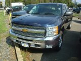 2012 Imperial Blue Metallic Chevrolet Silverado 1500 LT Extended Cab 4x4 #54738273