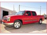 2005 Victory Red Chevrolet Silverado 1500 LS Crew Cab #54738603