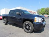 2008 Blue Granite Metallic Chevrolet Silverado 1500 LS Crew Cab #54738800