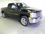 2012 Black Chevrolet Silverado 1500 LT Extended Cab 4x4 #54738788