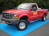 Red Ford F250 Super Duty in 2000