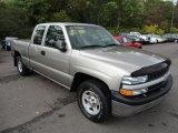 2001 Light Pewter Metallic Chevrolet Silverado 1500 LS Extended Cab 4x4 #54738506