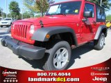 2012 Flame Red Jeep Wrangler Sport 4x4 #54791754