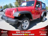 2012 Flame Red Jeep Wrangler Sport 4x4 #54791750