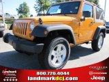 2012 Dozer Yellow Jeep Wrangler Sport S 4x4 #54791748
