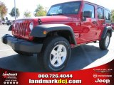 2012 Flame Red Jeep Wrangler Unlimited Sport S 4x4 #54791742