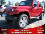 2012 Flame Red Jeep Wrangler Unlimited Sahara 4x4 #54791741