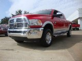 2012 Flame Red Dodge Ram 3500 HD Laramie Mega Cab 4x4 #54791884