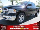 2012 Black Dodge Ram 1500 Big Horn Crew Cab #54815172