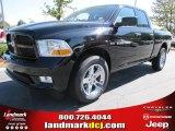 2012 Black Dodge Ram 1500 Express Quad Cab #54815167