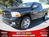 2012 Black Dodge Ram 1500 Express Quad Cab #54815158
