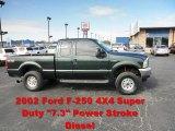 2002 Dark Highland Green Metallic Ford F250 Super Duty XLT SuperCab 4x4 #54815510