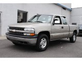 2000 Light Pewter Metallic Chevrolet Silverado 1500 LS Extended Cab 4x4 #54815080