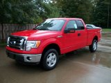 2011 Race Red Ford F150 XLT SuperCab 4x4 #54815455