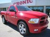 2012 Flame Red Dodge Ram 1500 Express Regular Cab #54851107