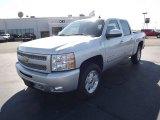 2011 Sheer Silver Metallic Chevrolet Silverado 1500 LT Crew Cab 4x4 #54851324