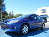 2012 Sonic Blue Metallic Ford Focus SE Sedan #54851022