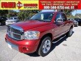 2007 Inferno Red Crystal Pearl Dodge Ram 1500 Laramie Quad Cab #54851566