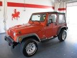 2006 Impact Orange Jeep Wrangler SE 4x4 #54850887