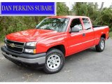 2006 Victory Red Chevrolet Silverado 1500 LS Extended Cab 4x4 #54850881