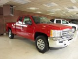2012 Victory Red Chevrolet Silverado 1500 Work Truck Extended Cab 4x4 #54913566