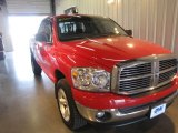 2007 Flame Red Dodge Ram 1500 Big Horn Edition Quad Cab 4x4 #54913223