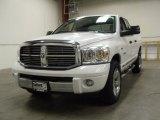 2008 Bright White Dodge Ram 1500 Laramie Quad Cab 4x4 #54913451