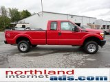 2012 Vermillion Red Ford F250 Super Duty XL SuperCab 4x4 #54912852