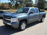 2010 Blue Granite Metallic Chevrolet Silverado 1500 LT Extended Cab #54913351