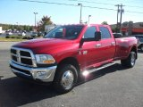 2010 Inferno Red Crystal Pearl Dodge Ram 3500 ST Crew Cab 4x4 Dually #54913346