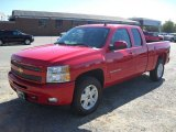 2011 Victory Red Chevrolet Silverado 1500 LT Extended Cab 4x4 #54913345