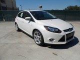 2012 White Platinum Tricoat Metallic Ford Focus Titanium 5-Door #54913086
