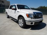 2011 White Platinum Metallic Tri-Coat Ford F150 Lariat SuperCrew #54913072