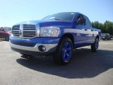2008 Electric Blue Pearl Dodge Ram 1500 Big Horn Edition Quad Cab #54964002