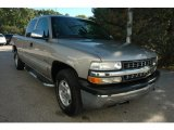 2002 Light Pewter Metallic Chevrolet Silverado 1500 LS Extended Cab 4x4 #54964155