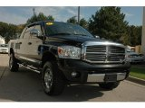 2007 Brilliant Black Crystal Pearl Dodge Ram 1500 Laramie Mega Cab 4x4 #54964153