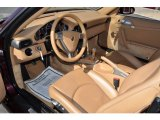 2007 Porsche 911 Carrera 4 Cabriolet Natural Leather Brown Interior