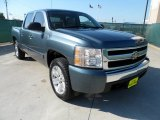 2007 Blue Granite Metallic Chevrolet Silverado 1500 LT Crew Cab #54963832