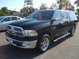 2009 Brilliant Black Crystal Pearl Dodge Ram 1500 Laramie Crew Cab 4x4 #54964087
