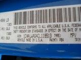 2012 Wrangler Color Code for Cosmos Blue - Color Code: PB4