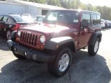 2012 Deep Cherry Red Crystal Pearl Jeep Wrangler Sport S 4x4 #54964032